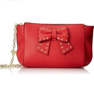 Betsey Johnson Sincerely Yours Red Crossbody Purse